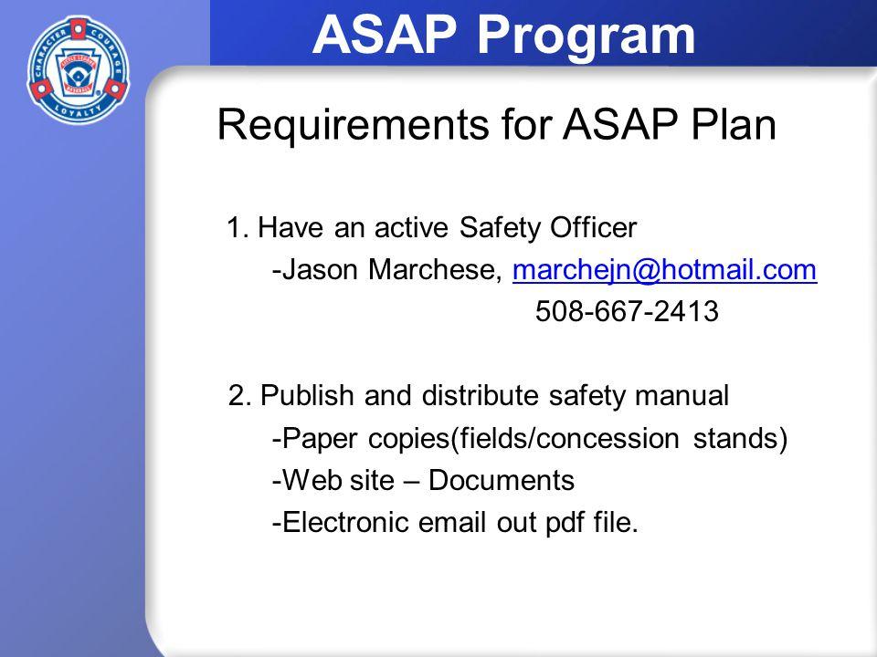 ASAP Program 1.