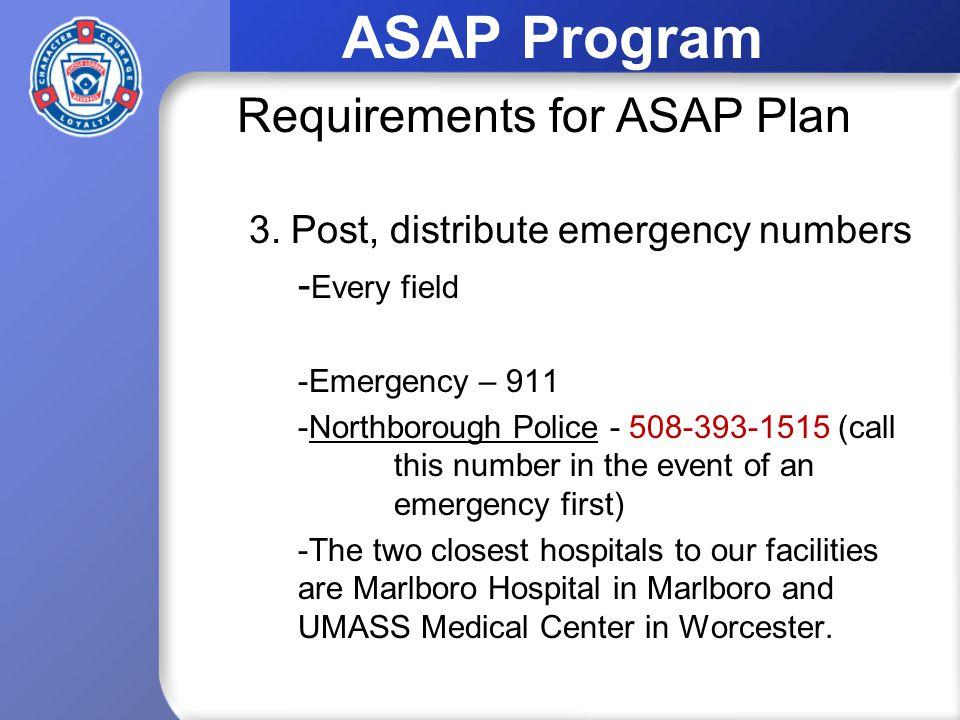 ASAP Program 3.