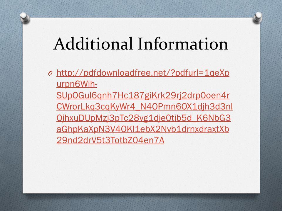 Additional Information O http://pdfdownloadfree.net/?pdfurl=1qeXp urpn6Wih- SUpOGul6qnh7Hc187giKrk29rj2drp0oen4r CWrorLkq3cqKyWr4_N4OPmn6OX1djh3d3nl O