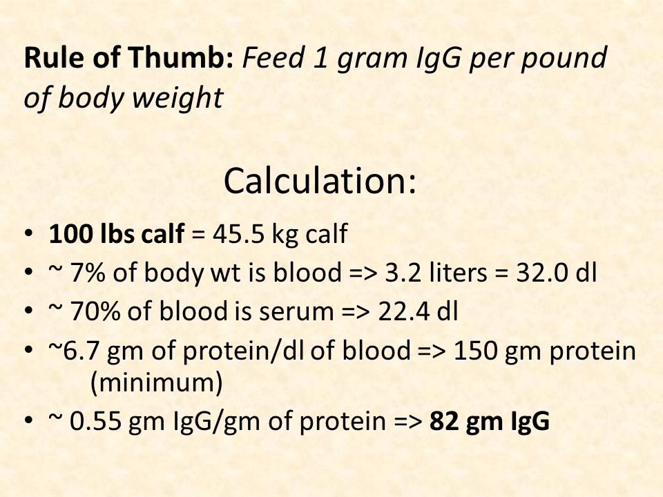 Colostrum management First milk : – Immunoglobulin (antibodies) – Fat – Vitamin A & E – Carbohydrates and protein Give adequate volume ASAP Feed immediately 1 gram/lb body wt