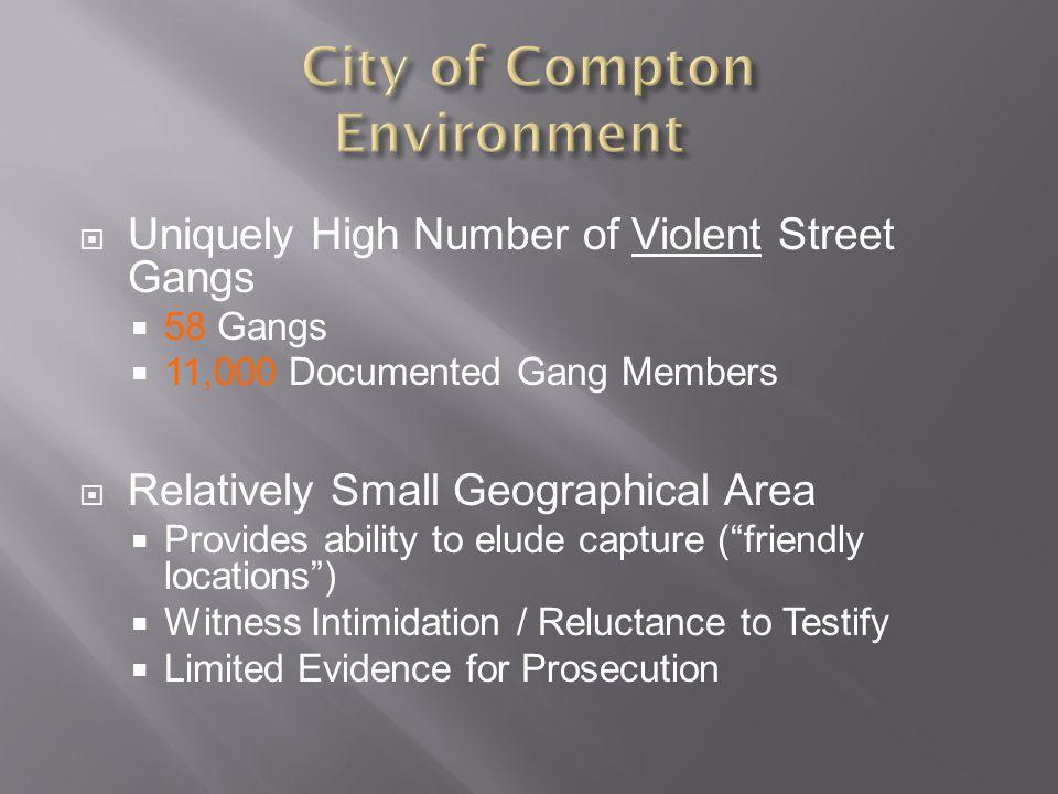  Make Compton a Safe City  Thwart Gang Violence  Interrupt Crimes in Progress  Deterrence = Prevent Crime Before it Occurs.