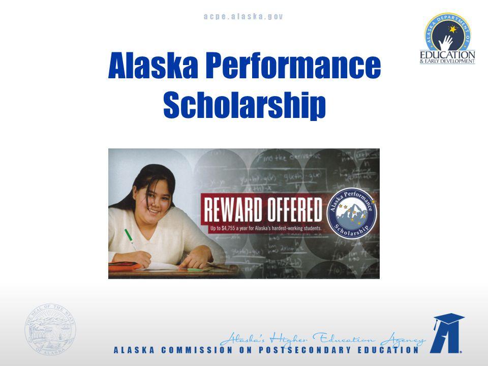 acpe.alaska.gov Alaska Performance Scholarship