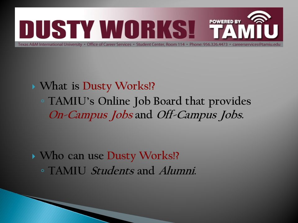 What is Dusty Works!.