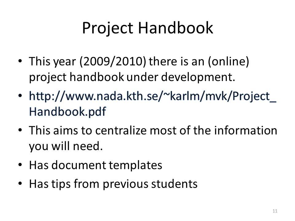 Project Handbook 11