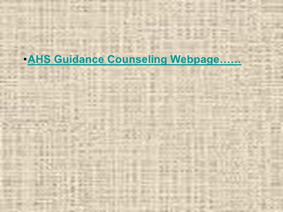 AHS Guidance Counseling Webpage……