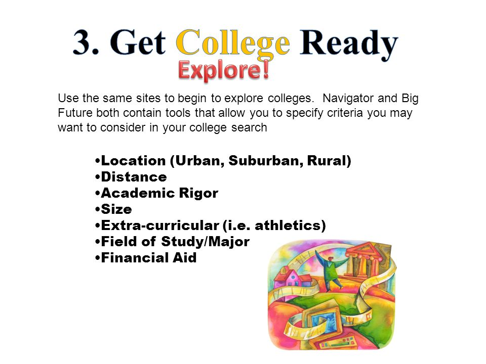 Use the same sites to begin to explore colleges.