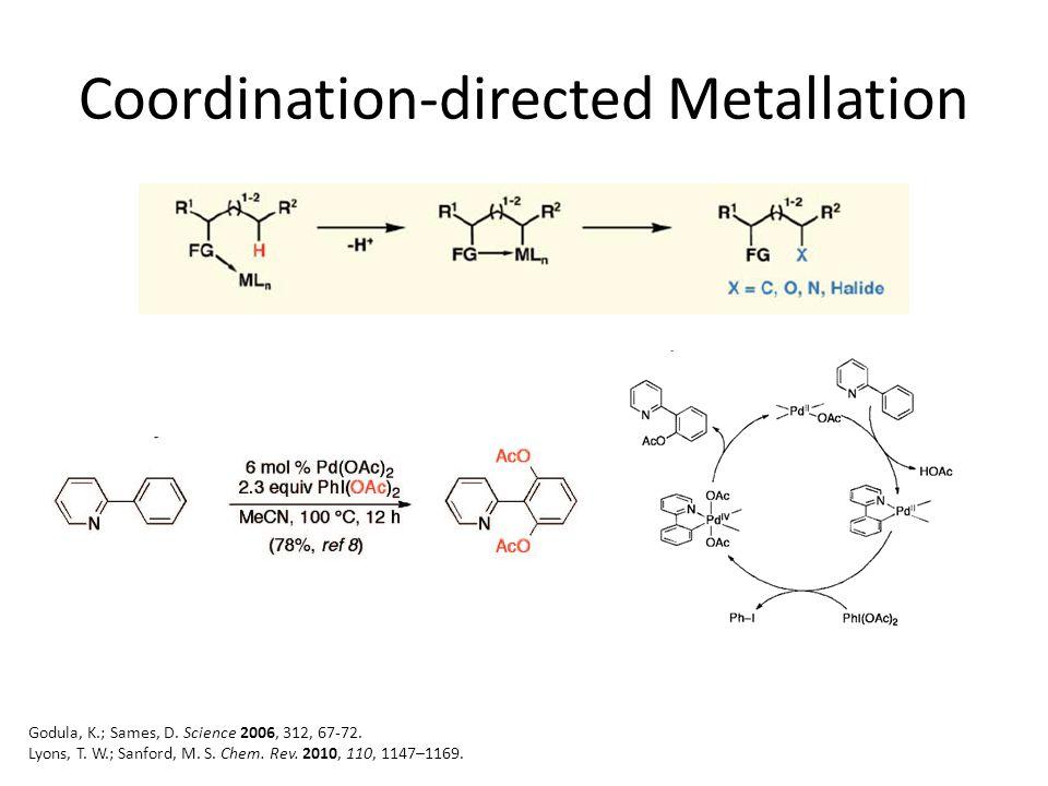 Carbenoids and Nitrenoids Godula, K.; Sames, D. Science 2006, 312, 67-72.