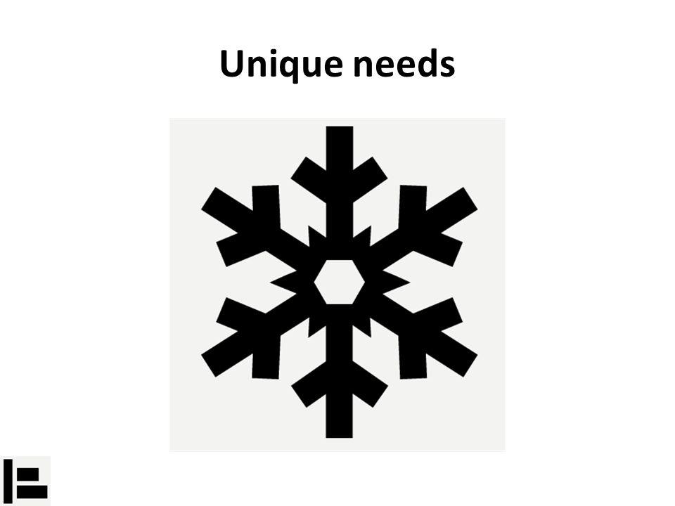 Unique needs
