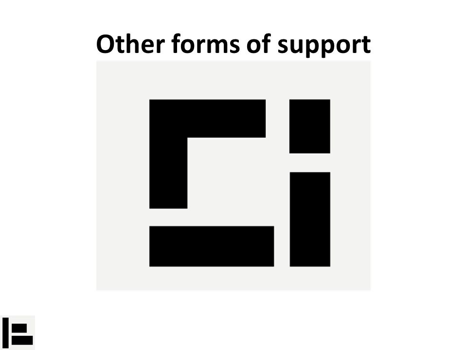 Other forms of support