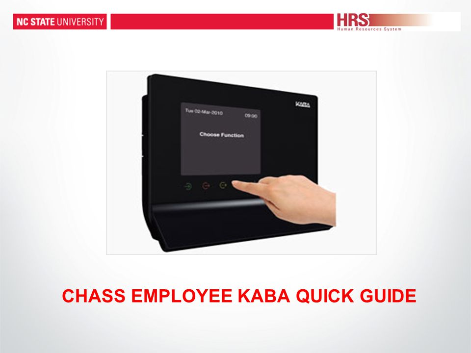 Kaba Web Clock: To View Your Time Record Employee Name To view historical punch data click on Time Record View .