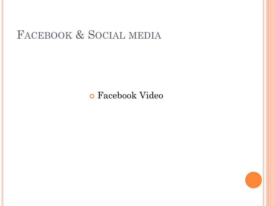 F ACEBOOK & S OCIAL M EDIA What is written on your page.