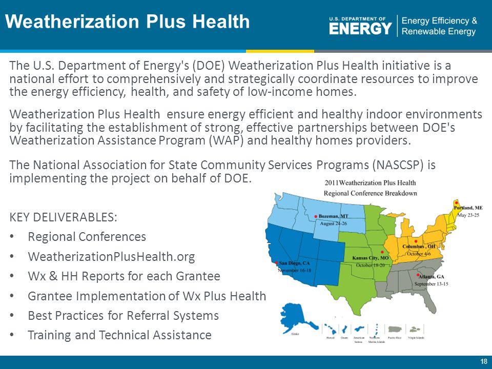 18 Weatherization Plus Health The U.S.