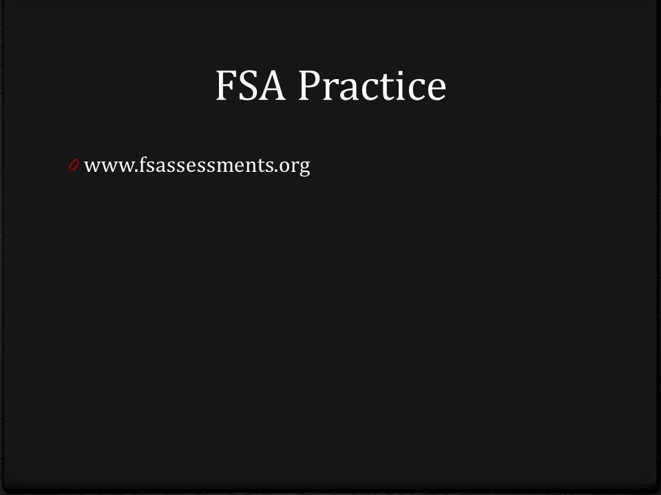 FSA Practice 0 www.fsassessments.org