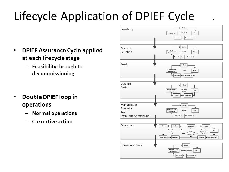 Lifecycle Application of DPIEF Cycle.
