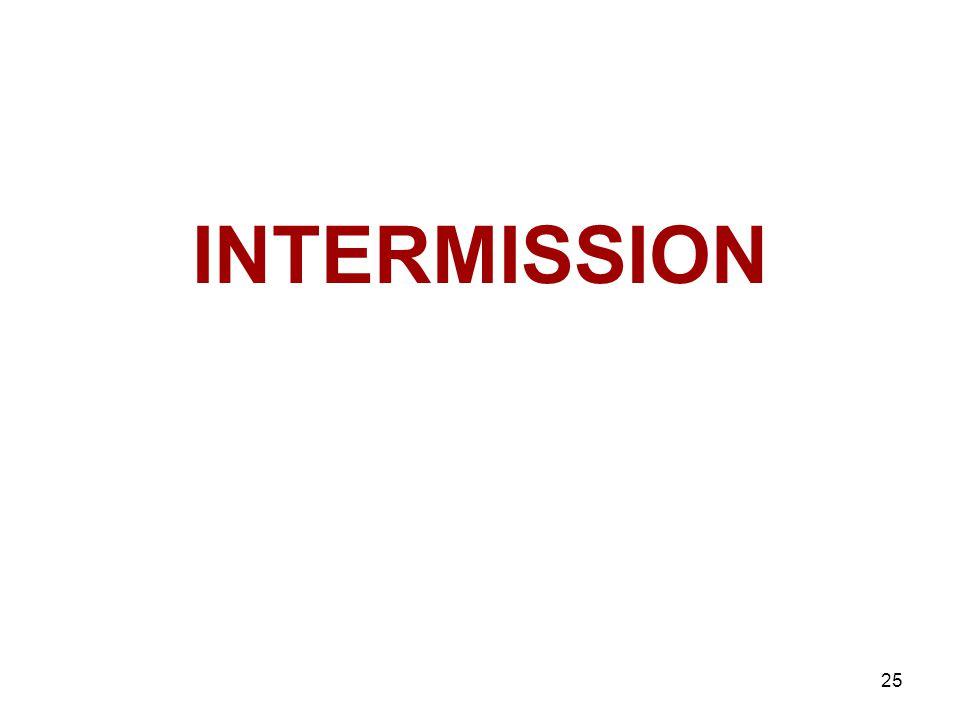 25 INTERMISSION