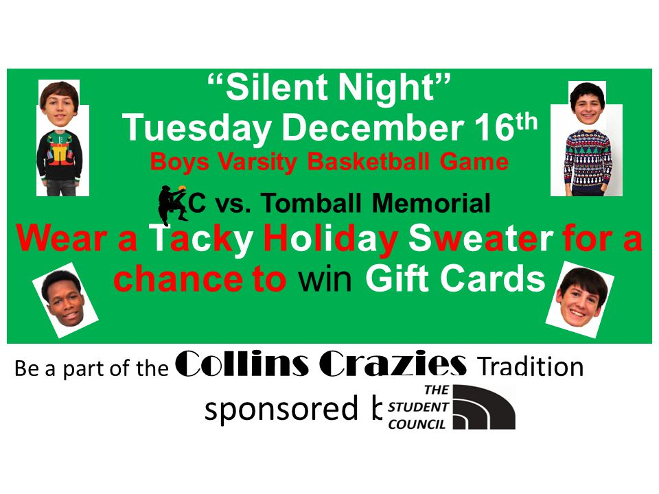 Silent Night Tuesday December 16 th Boys Varsity Basketball Game KC vs.