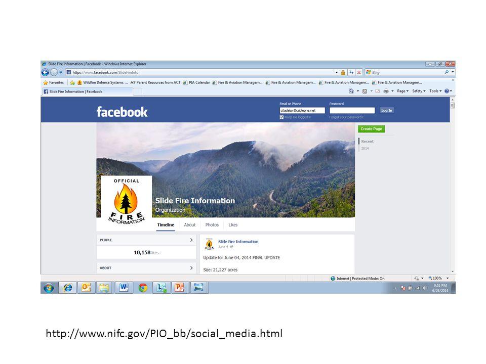 http://www.nifc.gov/PIO_bb/social_media.html