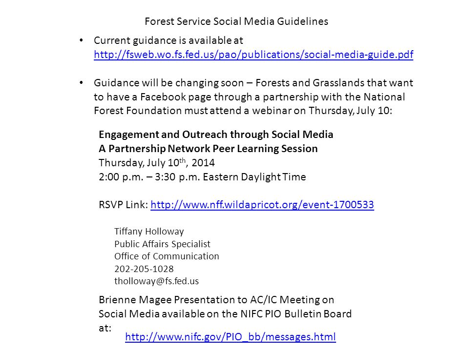 Engagement and Outreach through Social Media A Partnership Network Peer Learning Session Thursday, July 10 th, 2014 2:00 p.m.