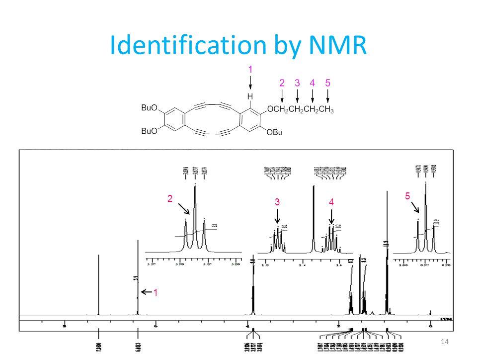 Identification by NMR 1 2 34 5 14