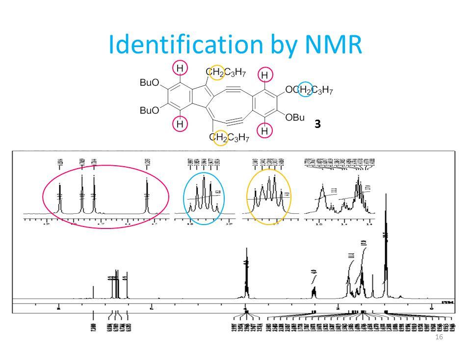 Identification by NMR 3 16