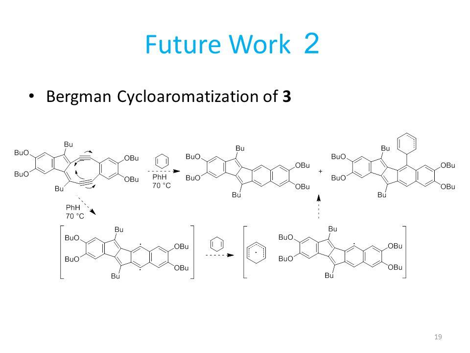 Future Work 2 Bergman Cycloaromatization of 3 19