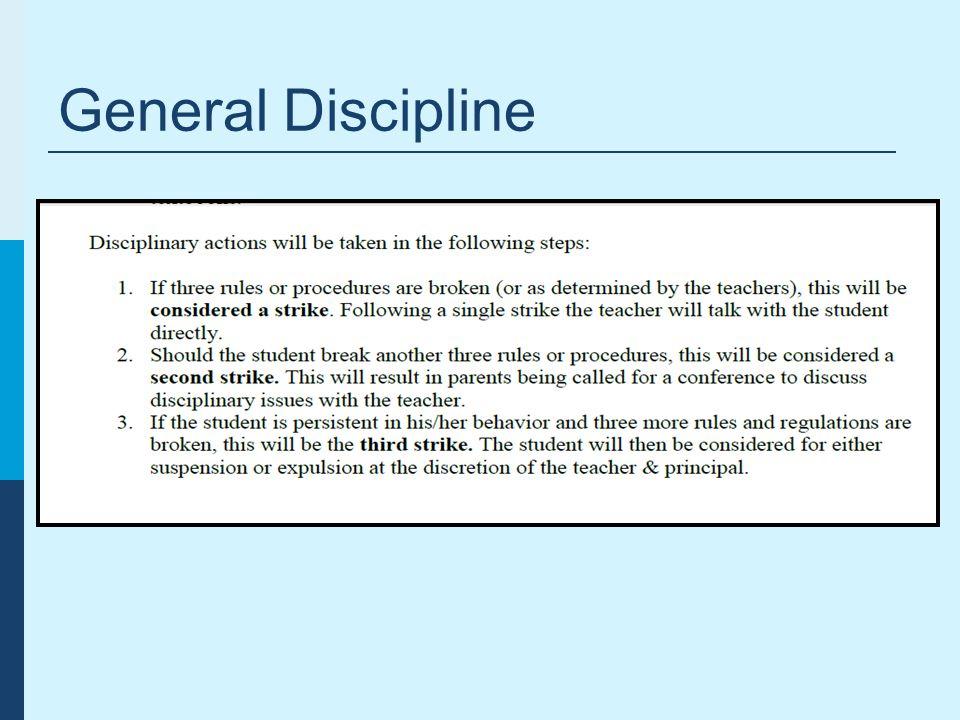 General Discipline