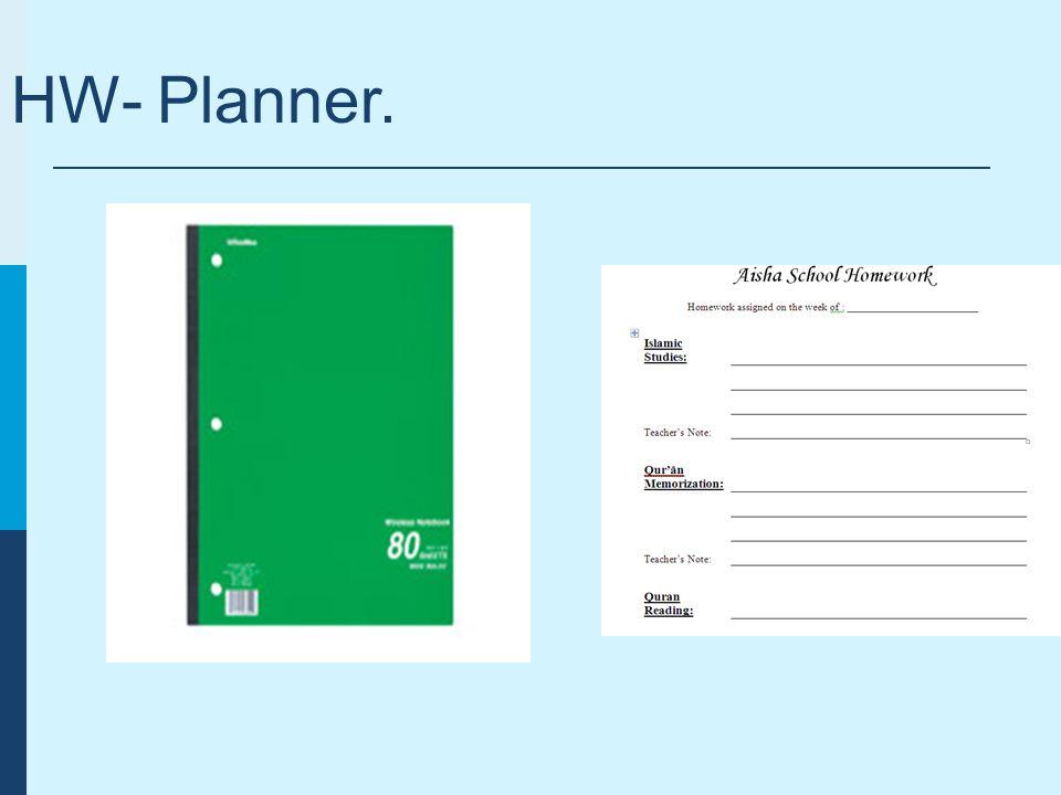 HW- Planner.