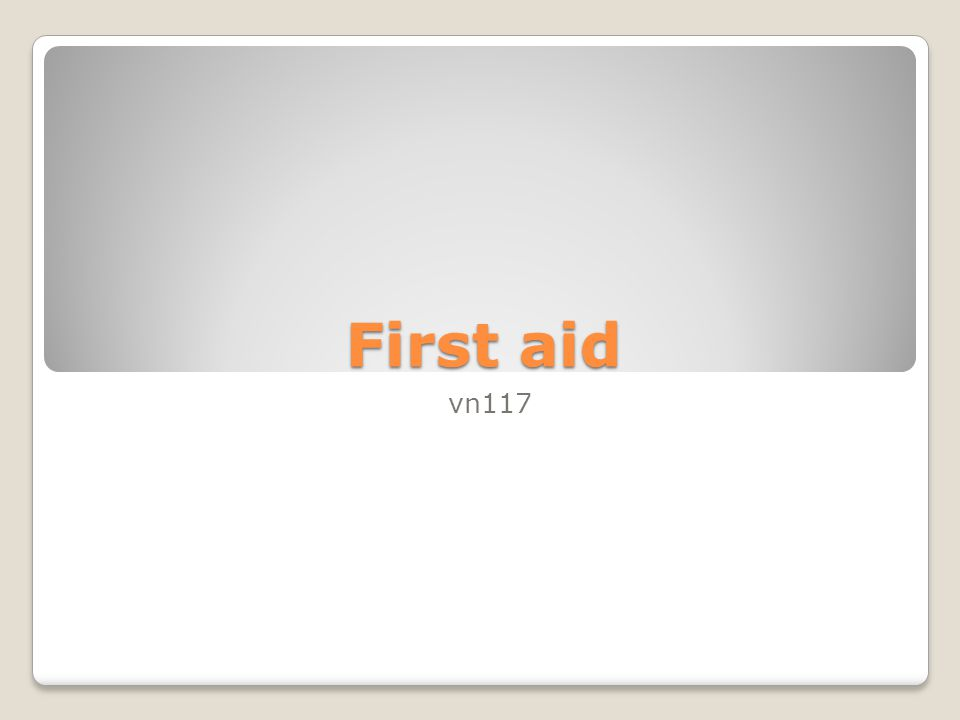 First aid vn117