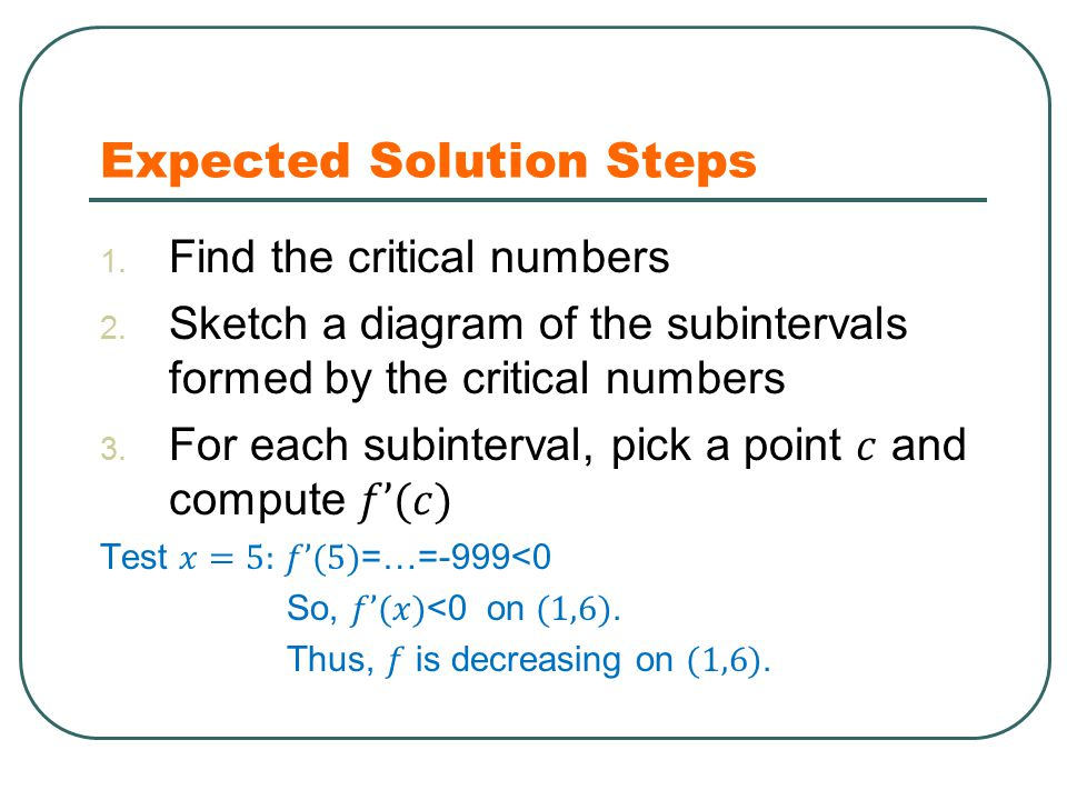 Expected Solution Steps