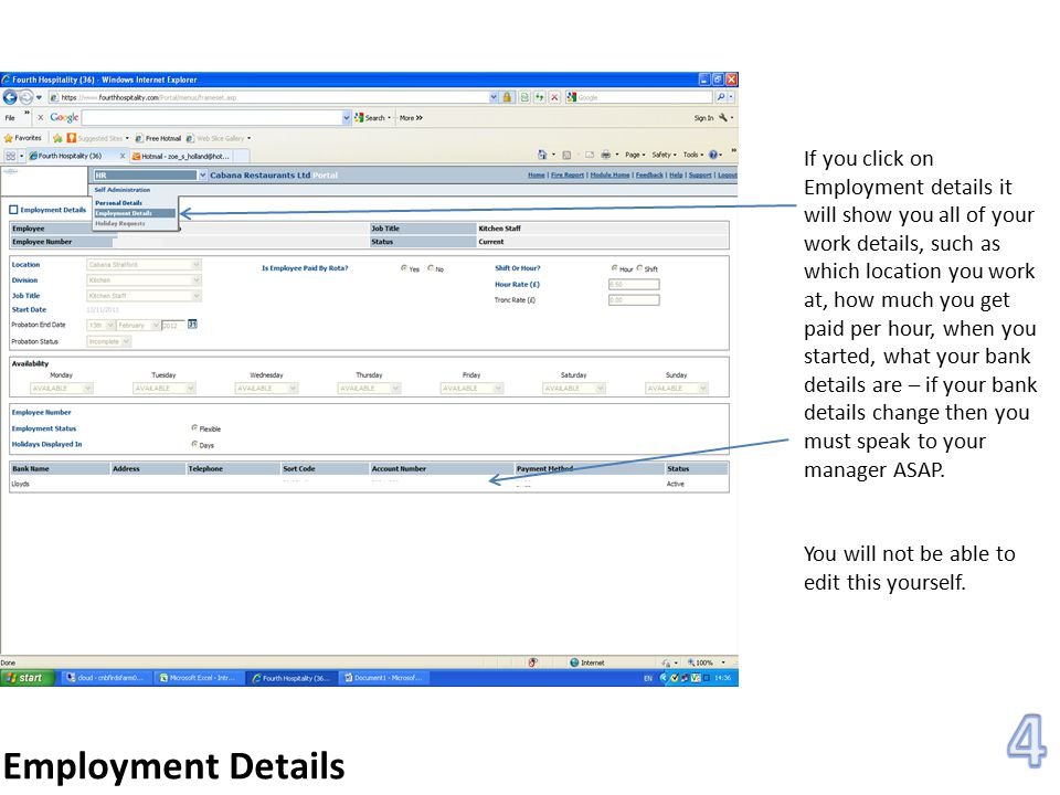 Payroll You will then be able to view any payslip that you want – click on HTML to view individual payslips.