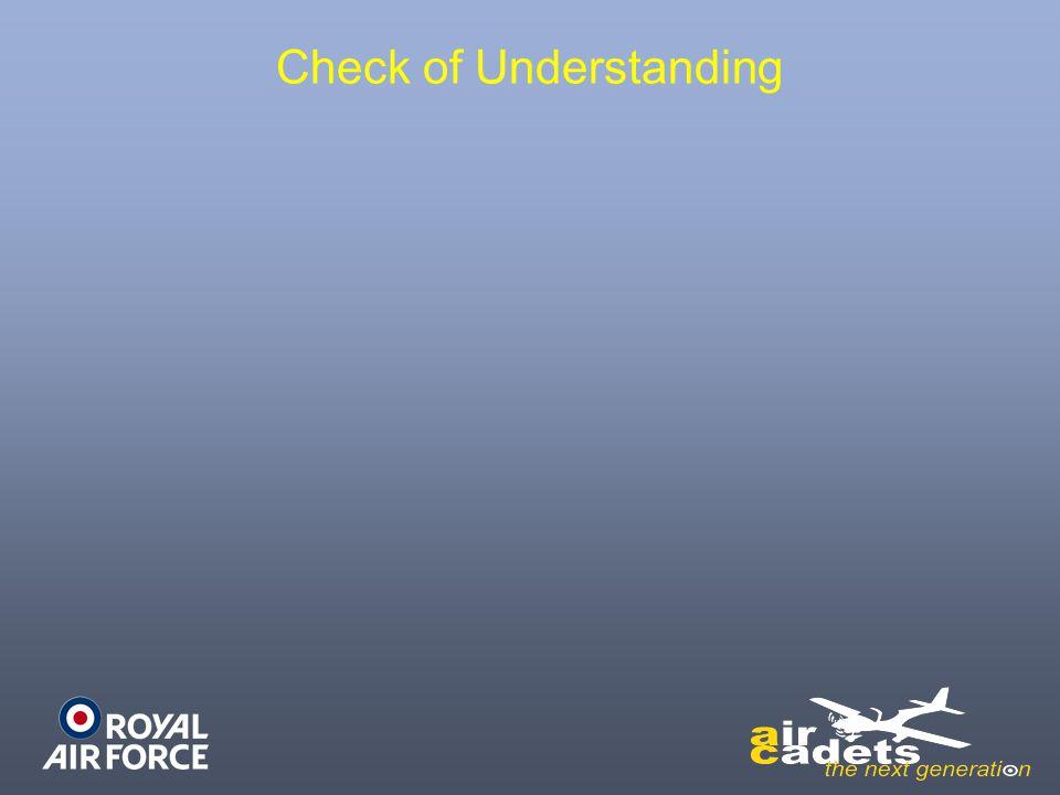 Check of Understanding