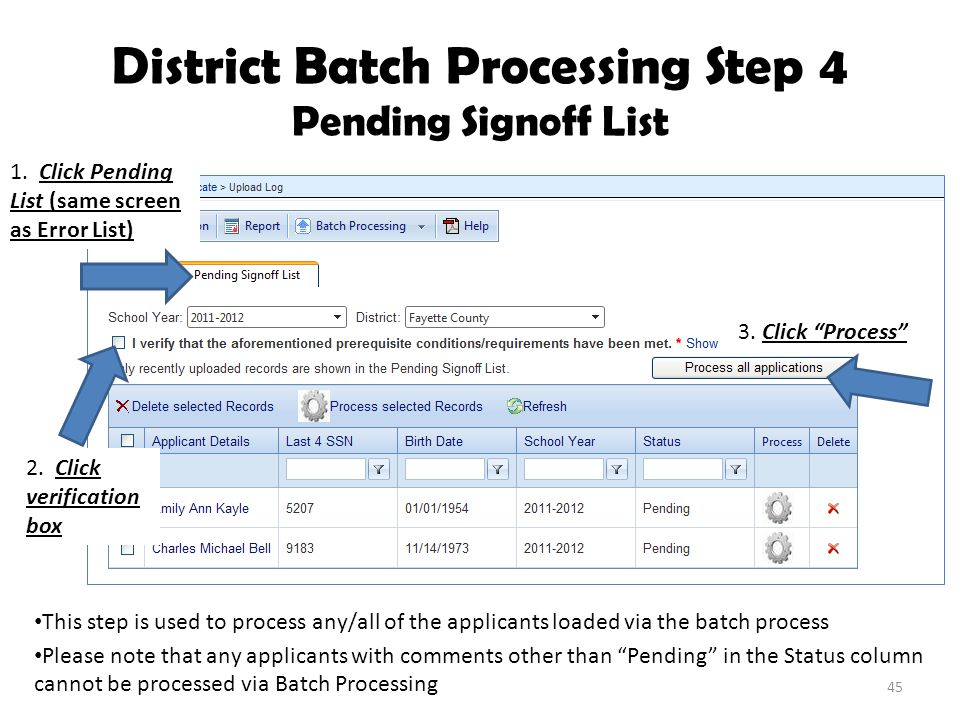 District Batch Processing Step 4 Pending Signoff List 2.