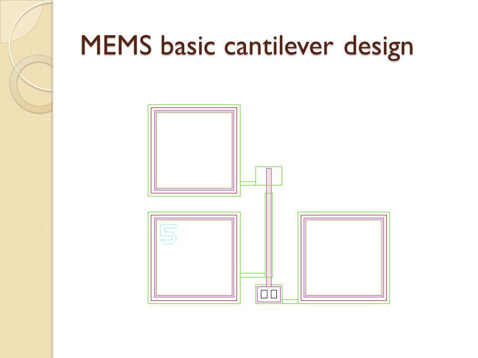 MEMS basic cantilever design