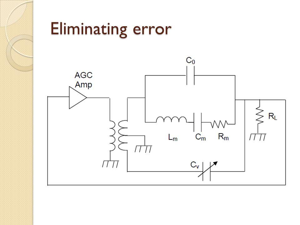 Eliminating error