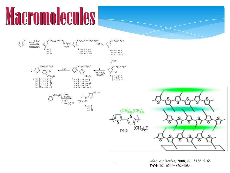 14 Macromolecules, 2008, 41, 5156–5165 DOI: 10.1021/ma702408h