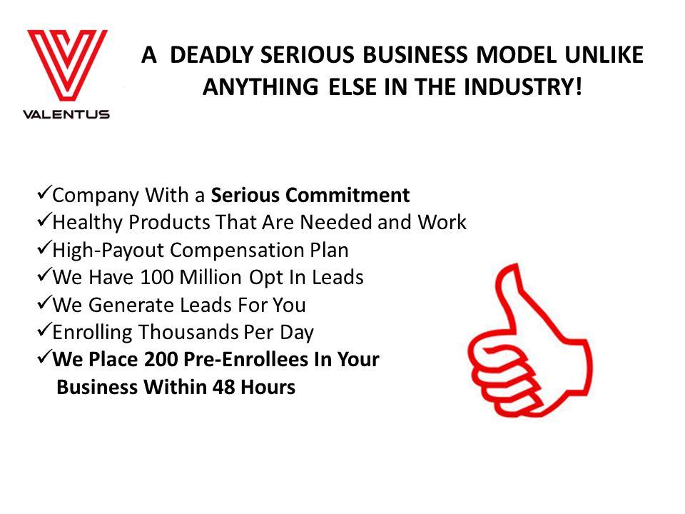A DEADLY SERIOUS BUSINESS MODEL UNLIKE ANYTHING ELSE IN THE INDUSTRY.