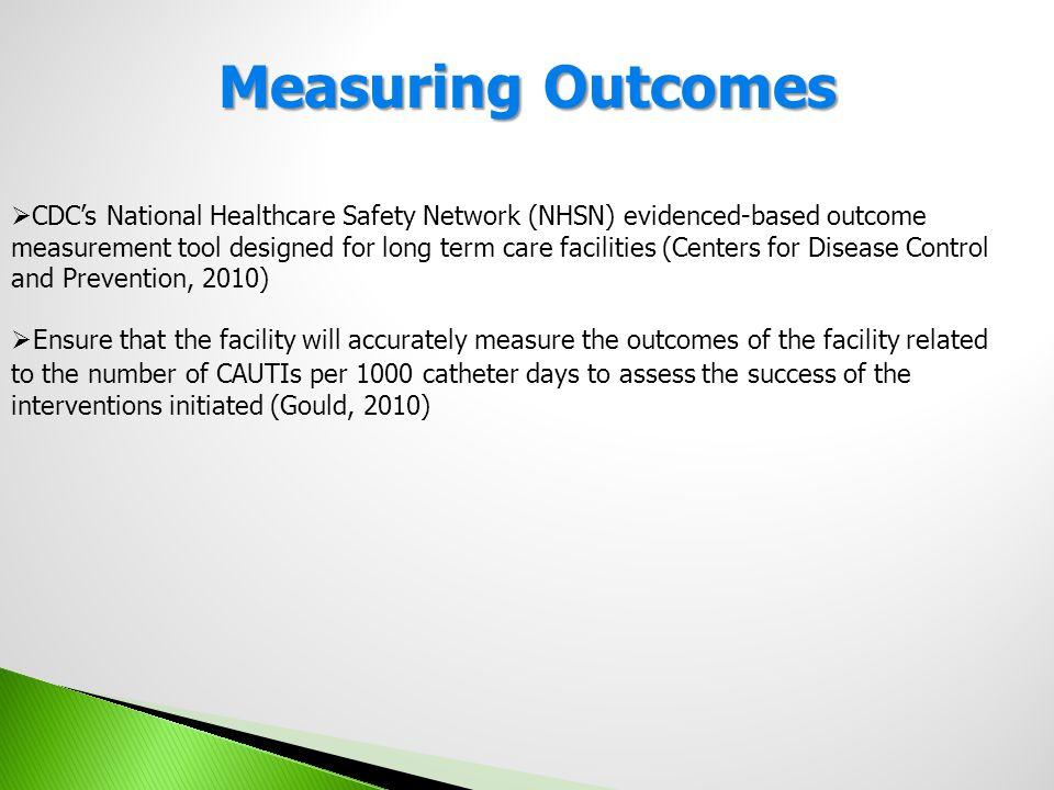 Measuring Outcomes Tool