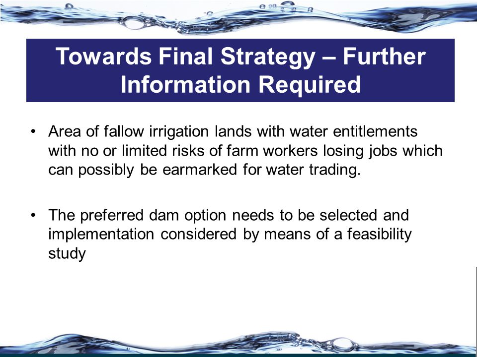 Area of fallow irrigation lands with water entitlements with no or limited risks of farm workers losing jobs which can possibly be earmarked for water trading.