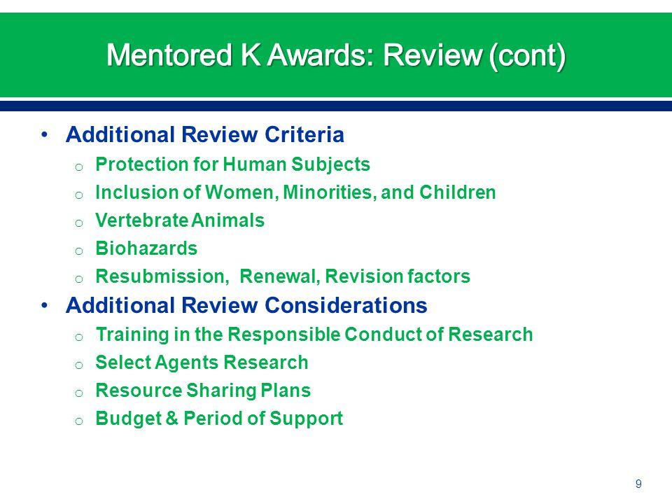 The Independent Career Development Award 10
