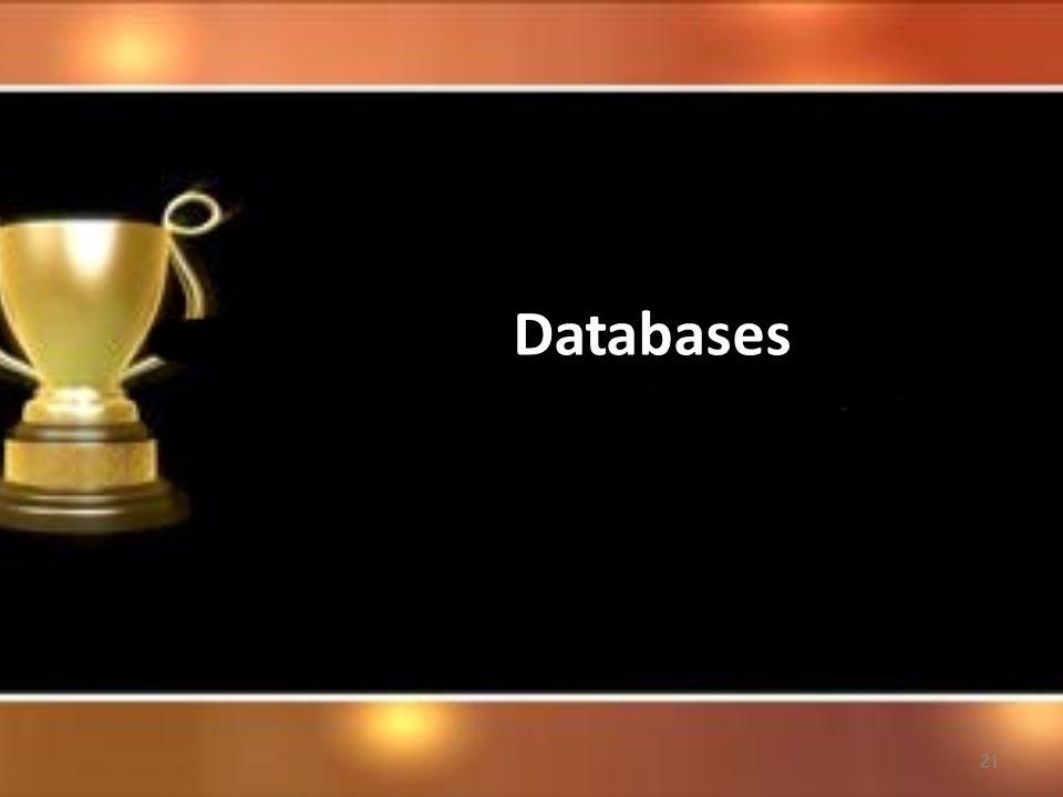 21 Databases