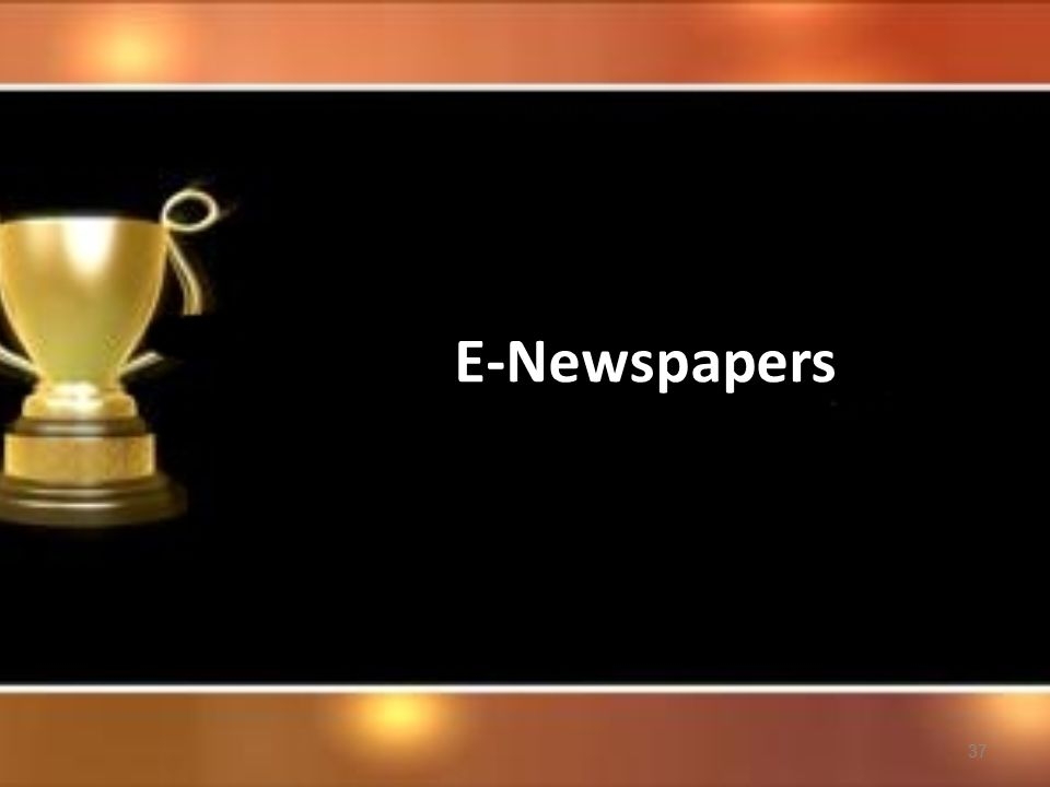 37 E-Newspapers