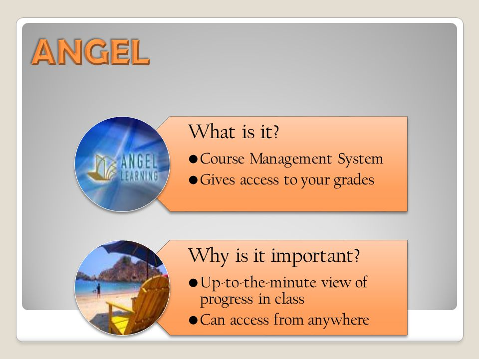 What is it. Course Management System Gives access to your grades Why is it important.