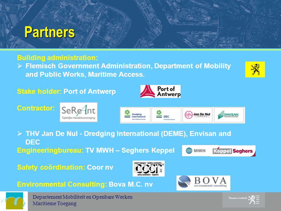 Departement Mobiliteit en Openbare Werken Maritieme Toegang Partners Building administration:  Flemisch Government Administration, Department of Mobility and Public Works, Maritime Access.