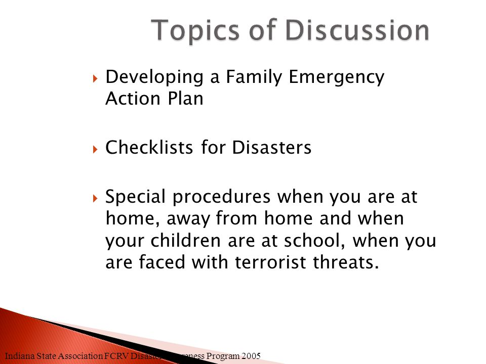  Talk to school authorities to find out what they will do in case of such an attack.