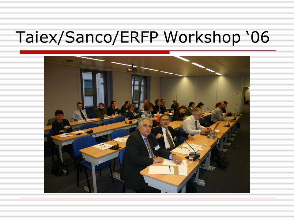 Taiex/Sanco/ERFP Workshop '06