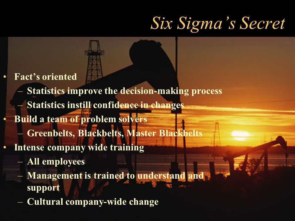"Wall Street's Response to Six Sigma Companies started touting increases in earnings as results of Six Sigma initiatives ""Companies get more than stati"