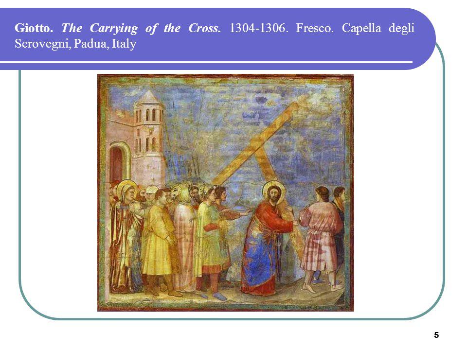 5 Giotto. The Carrying of the Cross. 1304-1306. Fresco. Capella degli Scrovegni, Padua, Italy