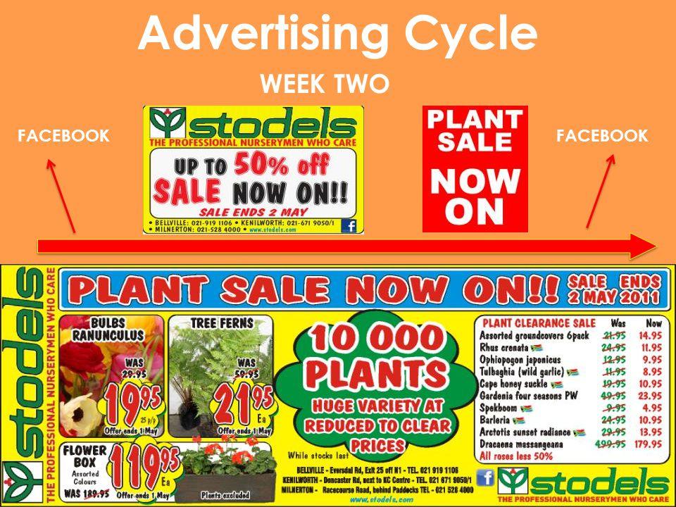 Advertising Cycle WEEK TWO FACEBOOK