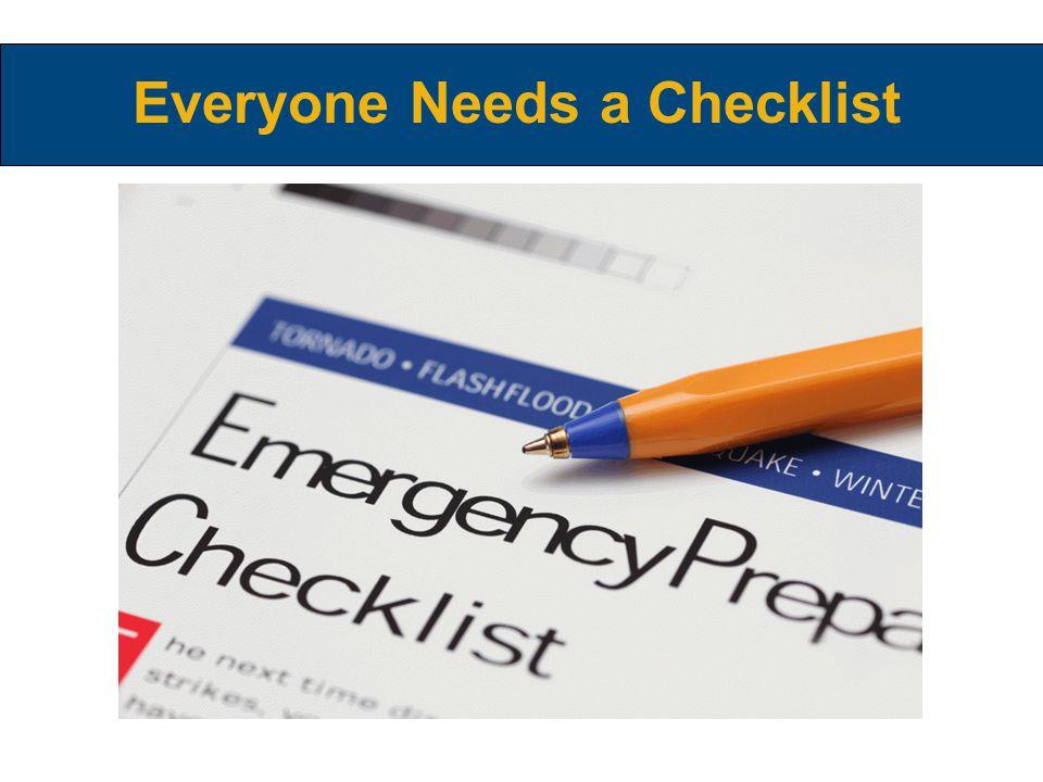 Everyone Needs a Checklist