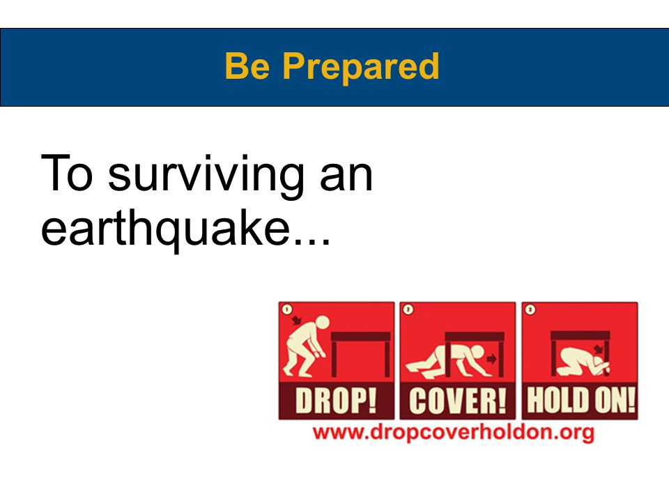 Even nuclear war... Be Prepared